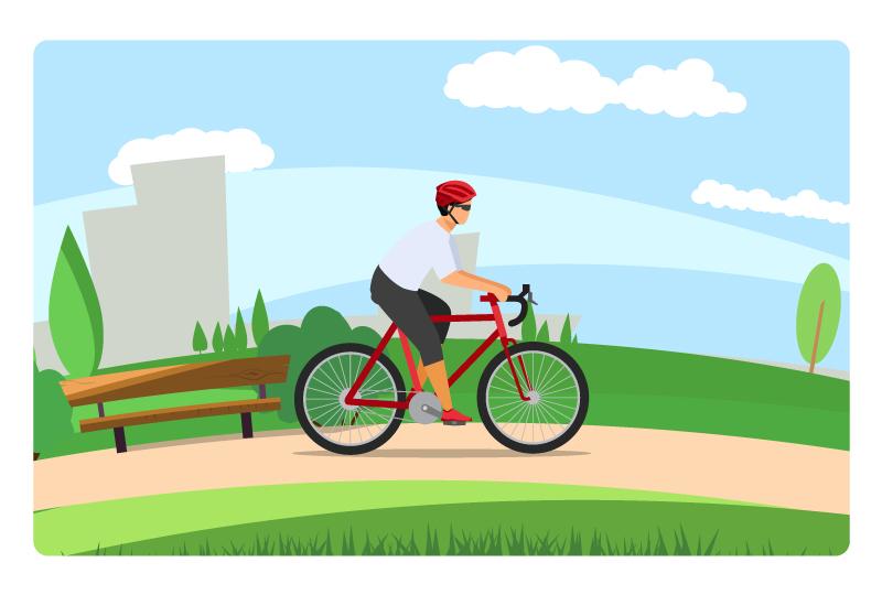 Healthy cyclist