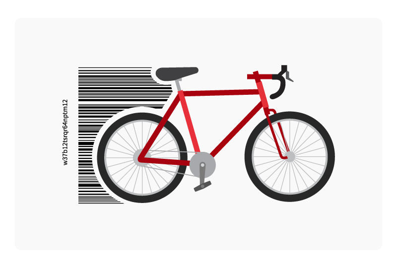 bike with serial code number