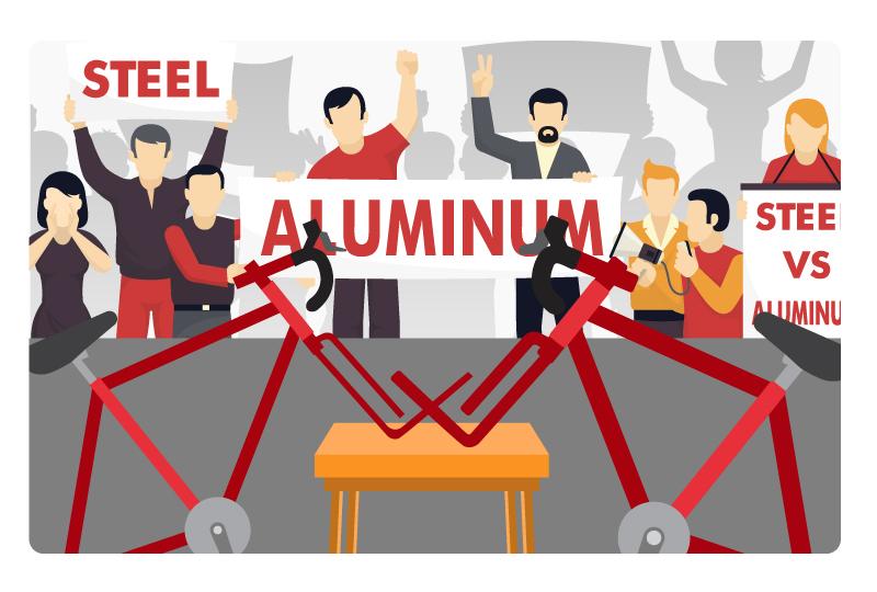 aluminum vs steel bike frame