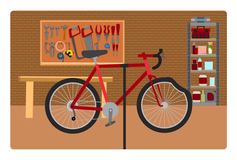bent bicycle rim