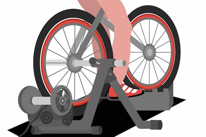 bike on an ftp test