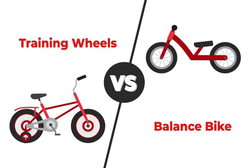 training wheels vs balance bikes